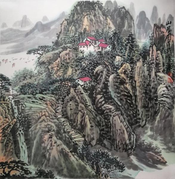 墨气氤氲空画趣,山重水复泊情怀——著名画家宋有新艺术作品欣赏