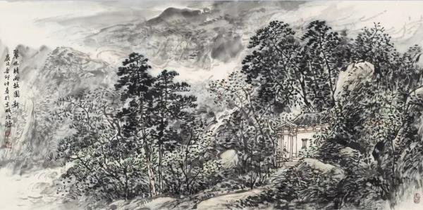 李项鸿,《翠林积雨故园新》,137×68cm ,2011年作.webp.jpg