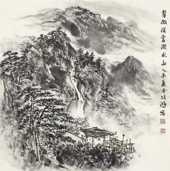 李项鸿,《翠微深处涧水幽》,68cm×68cm,2015年作.webp.jpg