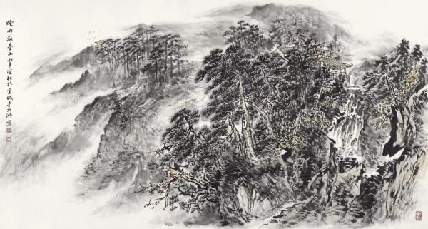 李项鸿,《烟雨敬亭山》,178cm×87cm,2016年作.webp.jpg