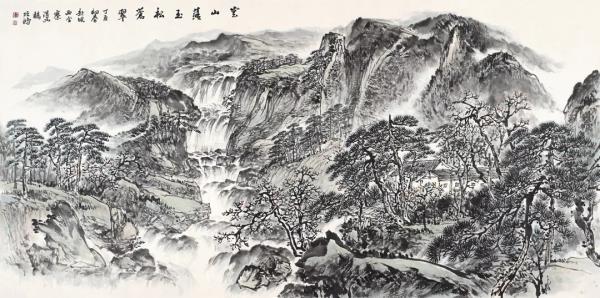 李项鸿,《云山落玉松苍翠》,247cm×123cm ,2017年作.webp.jpg