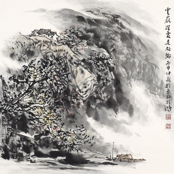 李项鸿,《云岭深处是故乡》,2016年,68cm×68cm