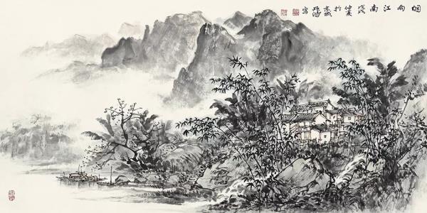 李项鸿,《烟雨江南》,136cm×68cm,2012年作.webp.jpg