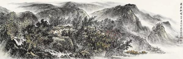 李项鸿,《溪居秋暝》,245cm×110cm,2016年.webp.jpg