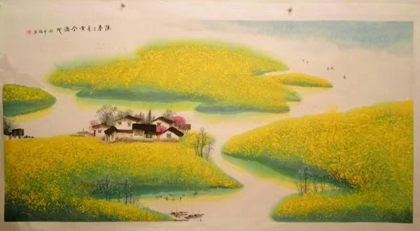 画家任桂英 淡雅脱俗山水画家作品赏析