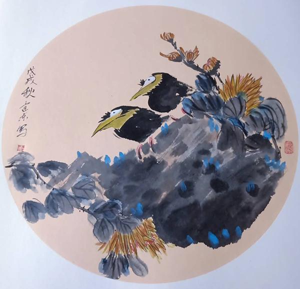 著名画家冯建东 彰显现代绘画色彩的经典之作