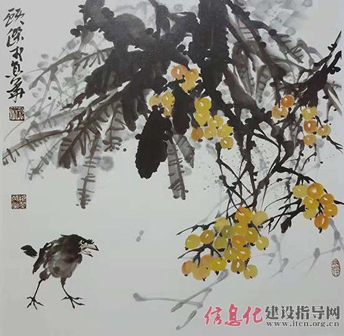 中国当代著名画家顾杰 诗书画印均 文人画风骨