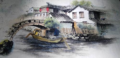 陈瑀江西壁画第一人 诗书画印样样精通