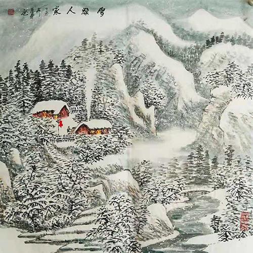 当代著名山水画画家臧茂春  西北雪景第一人