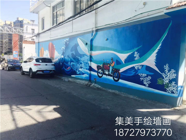 陈墨手绘墙绘