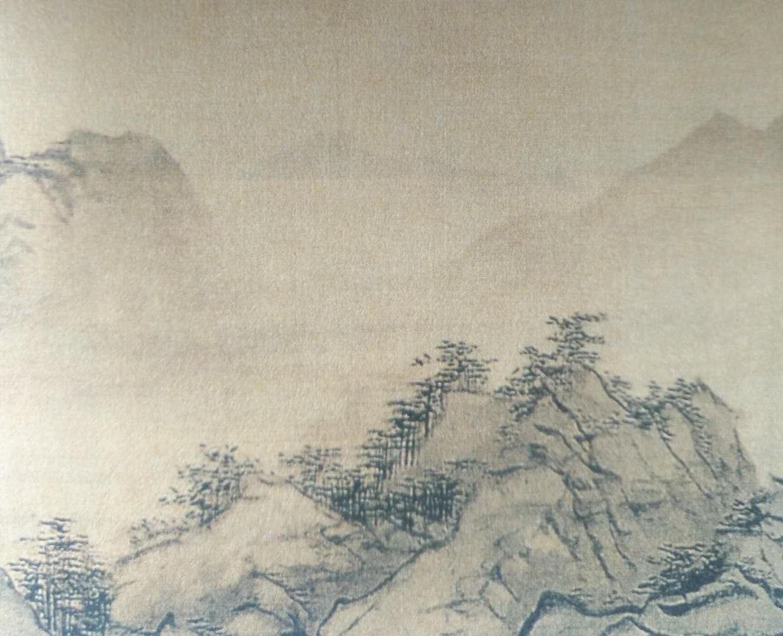 吴伟《长江万里图》局部纸本