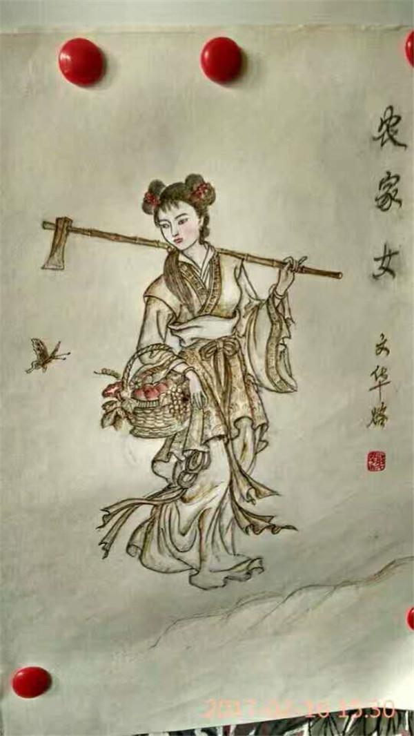 郑文华书画 雕刻 墙壁作品