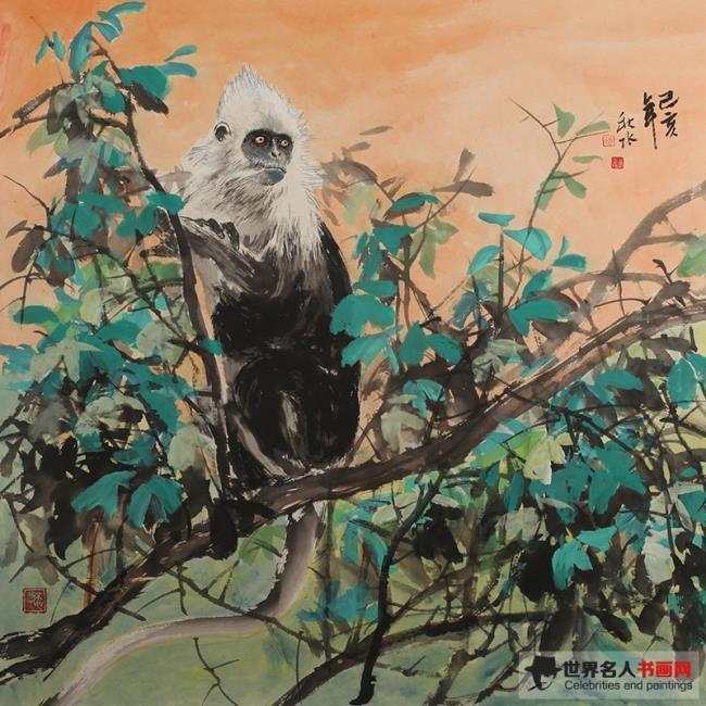 画家秋水:用画笔赋予白头叶猴人格图腾