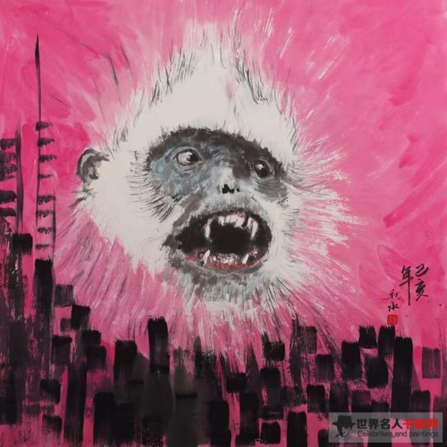 艺术家秋水:用画笔赋予白头叶猴人格图腾