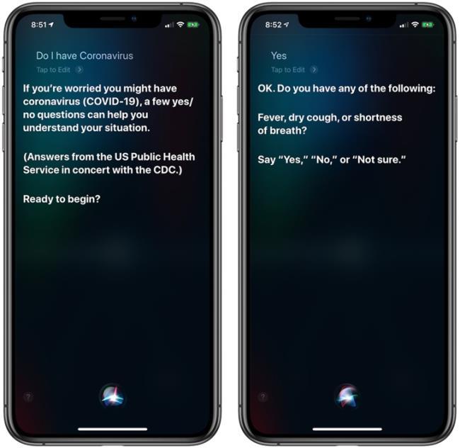 苹果Siri美区更新新冠病毒检测功能:可帮用户叫911