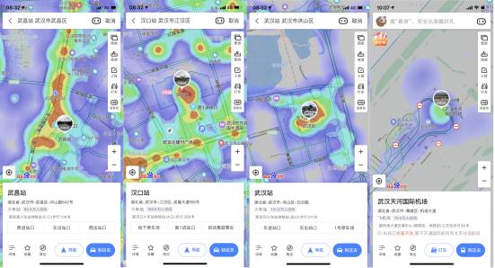百度地图:武汉解封首日,重点高速公路卡口人流量密度提升