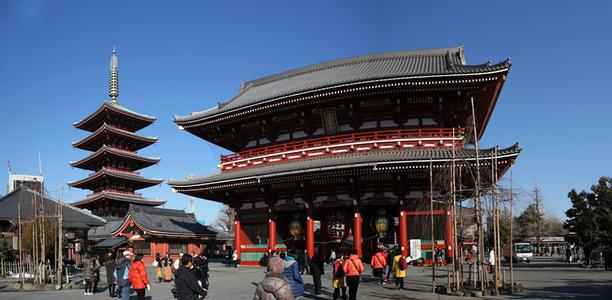 日本旅游景点推荐:东京浅草寺