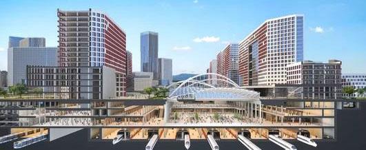 北京城市副中心东夏园交通枢纽开建