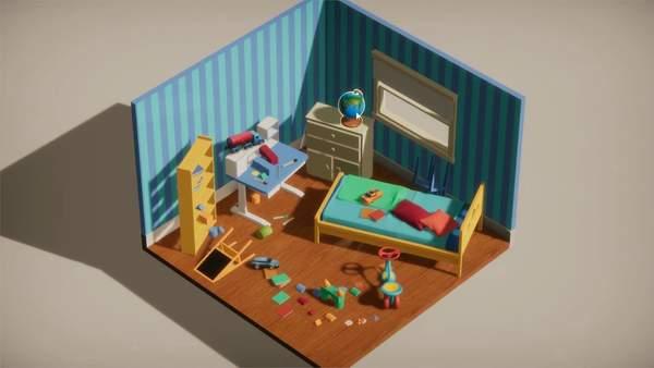 比起游戏更像积木 《收拾房间模拟器》抢先试玩版已上线Steam
