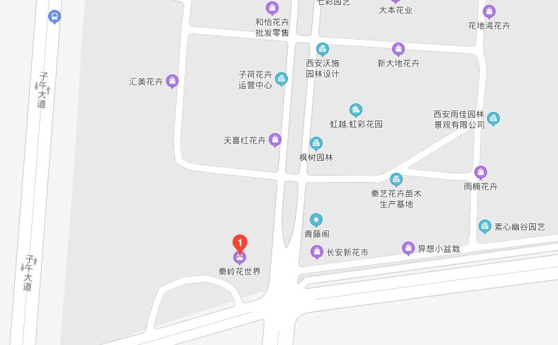 秦岭花世界地址在哪里?秦岭花世界地图