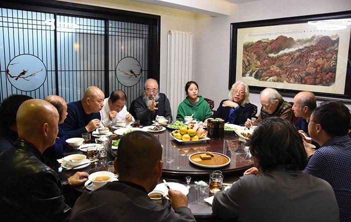 艺术大家江文湛、郭全忠、郭全忠、程征欢聚西安天然汇艺术馆