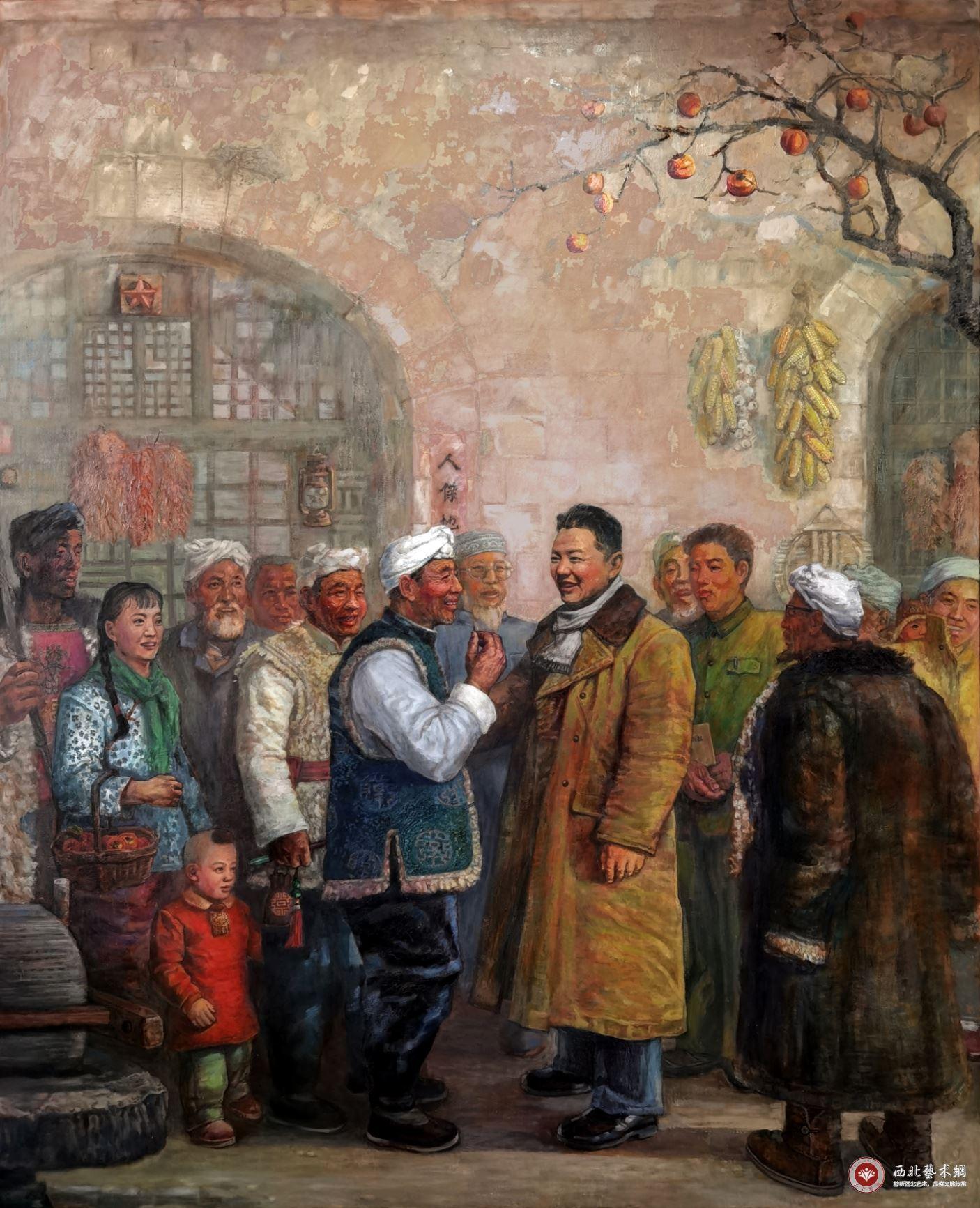 刘军油画作品《习仲勋在陕西》