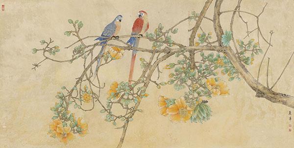 画家张丽萍,当代画坛新锐,笔下花鸟画堪称一绝!